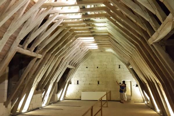 Château de Montsoreau – Charpente en chêne